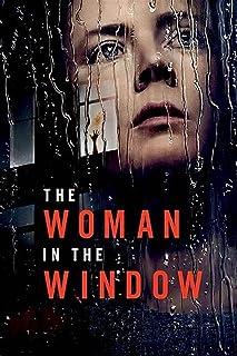 LaJiTong Kanvas med bild kvinnan i fönstret film bild konstfilm tryck affisch för din heminredning 60 x 90 cm