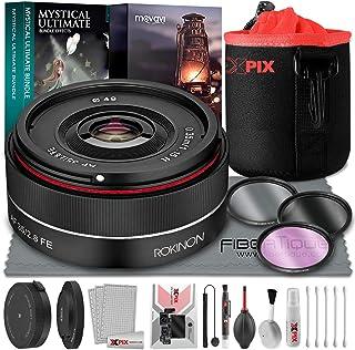 Rokinon AF 35mm f/2.8 FE Lens for Full Frame Sony E-Mount Cameras + Rokinon Lens Station for Sony E, Xpix Small Neoprene P...