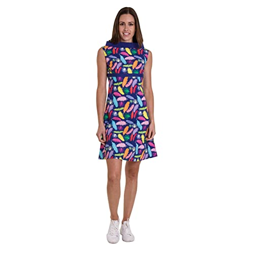 Run   Fly Ladies 60s Retro  Feather Me up  A-Line Dress b269f8d9f