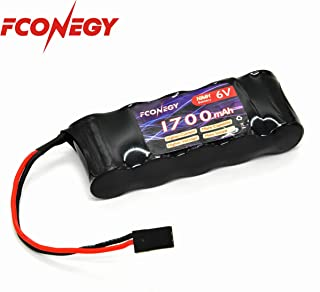 FCONEGY NiMH Battery Receiver Battery Pack 6V 1700mAh 5-Cell Flat Pack with BBL2 Plug for RC Transmitter/Receiver