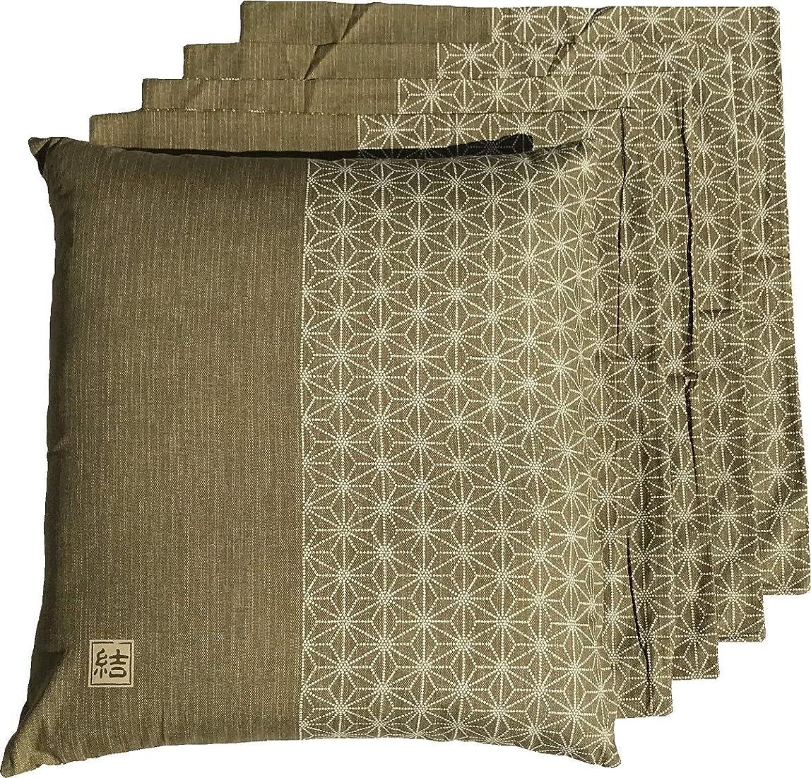 容赦ない身元対応するJOYDREAM 座布団カバー 5枚セット 55 59 cm 結 グリーン 日本製 55x59