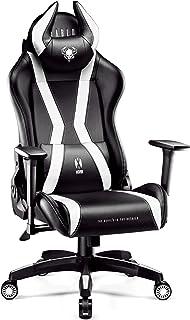 Diablo X-Horn Sedia Gaming Ufficio Braccioli 3D Design Ergonomico Collo/Cuscino Lombare Finta Pelle Meccanismo Oscillante ...