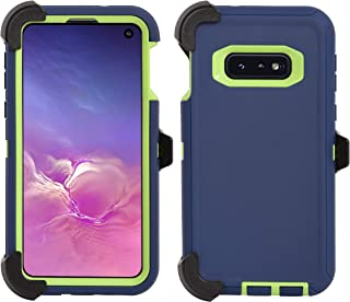 AlphaCell Cover Compatible with Samsung Galaxy S10e (Only) | Holster Case Series | Military Grade Protection with Carrying Belt Clip | Protective Drop-Proof Shock-Proof | Navy/Lime Green