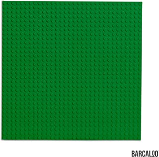 15 Inch x 15 Inch Baseplate for Building Bricks -Two Pack - Green Classic Baseplates Compatible with All Major Brands