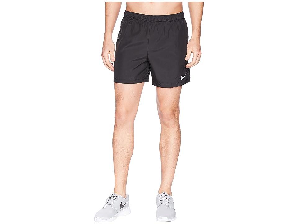 Nike Challenger 5 Running Short (Black/Black/Black) Men