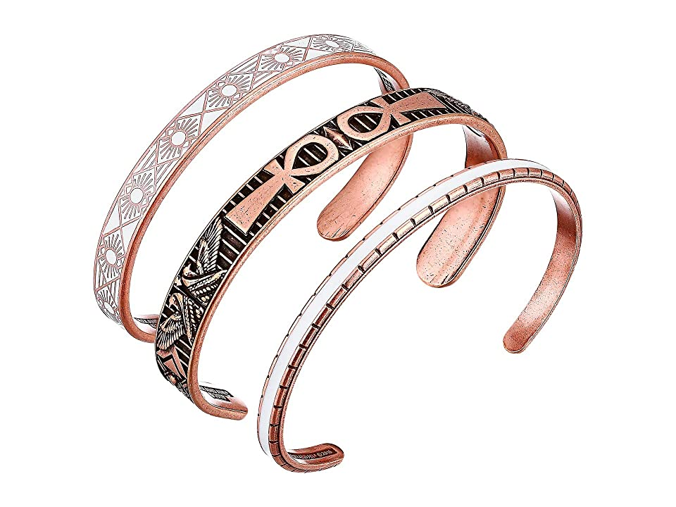 Alex and Ani Ankh Cuff Bracelet Set (Rose Gold) Bracelet
