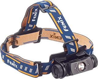 Fenix  HL60R, Lámpara recargable de cabeza, color negro con