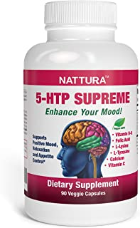 5-HTP Supreme - for Positive Mood, Relaxation and Appetite Control - with 5-HTP, L-Tyrosine, L-Lysine, Vitamin B6, Folate (Folic Acid), Vitamin C (Ascorbic Acid), Calcium - 90 Capsules