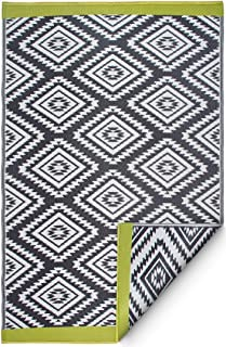 Fab Habitat Reversible Rugs | Indoor or Outdoor Use | Stain Resistant, Easy to Clean Weather Resistant Floor Mats | Valencia - Gray, 8' x 10'