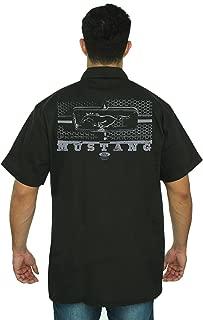Men's Mechanic Work Shirt Ford Mustang Honeycomb Grille