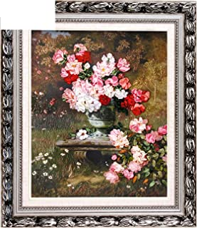 Blooming Rose vase Silk Ribbon Embroidery 3D Canvas Painting Satin Cross Stitch kit Needlework Handcraft Gift DIY Home,Without Frame,Without Circle