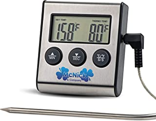 #1 Digital Meat Thermometer - BBQ Meat Thermometer - Meat Thermometer for Grilling - Meat Thermometer Oven Safe w/BONUS GIFT