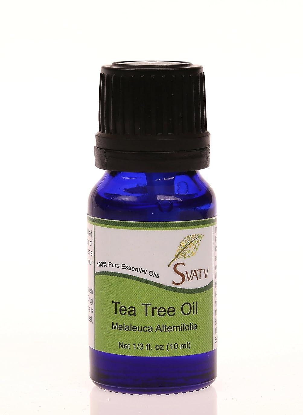 ステップ交流する満員SVATVティーツリー(Melaleuca alternifolia)エッセンシャルオイル10mL(1/3オンス)100%純粋な、希釈されていない、治療グレード