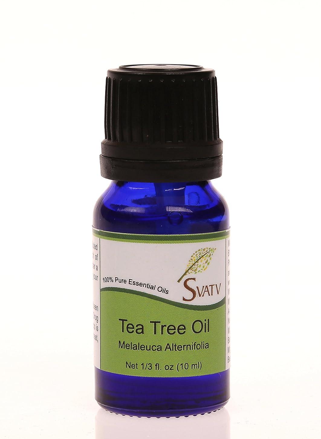 電化するクラウンSVATVティーツリー(Melaleuca alternifolia)エッセンシャルオイル10mL(1/3オンス)100%純粋な、希釈されていない、治療グレード
