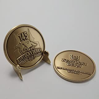 Indiana Metal Craft Kentucky Derby 145 Collector Coin 2019 with Easel Stand
