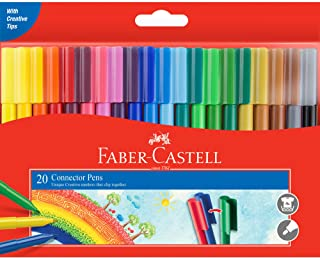 Faber-Castell F155520 Connector Pen Colour Marker 20 Pack, (11-200-A)