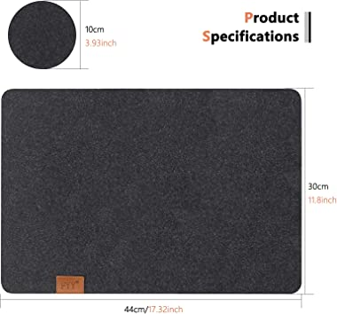 FYY Placemats Set of 4, [Heat Resistant] Non Slip Felt Placemats for Dining Table Set of 4 with 4 Coasters Washable Table Mat