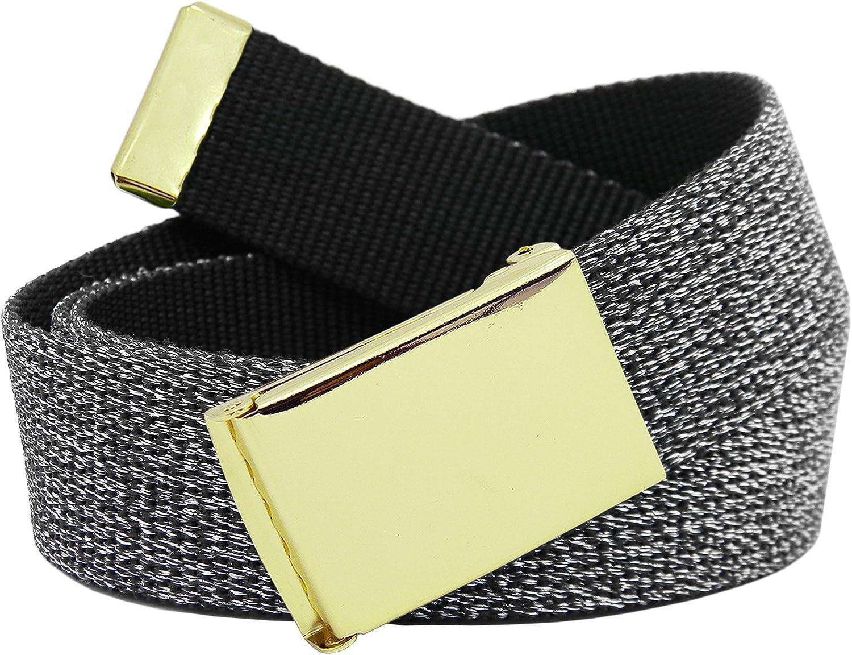 Girl's School Uniform Gold Flip Top Buckle with Canvas Web Belt