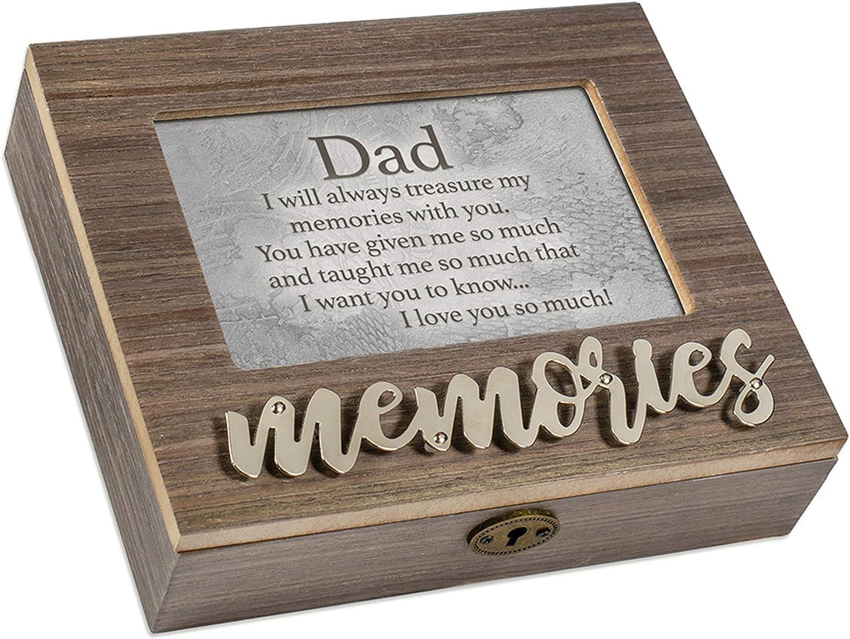 Cottage Garden Dad I Love You So Much Metal Appliqu/é Memories Music Box Plays Wonderful World