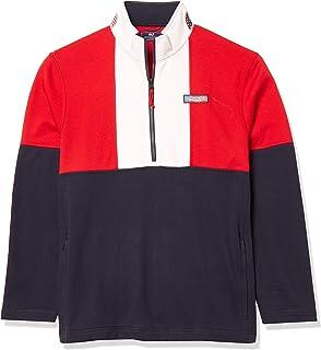 Men's USA Colorblock Mockneck Pullover