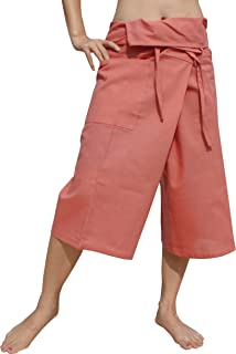 RaanPahMuang Plain Higher Grade Muang 棉质泰国渔夫七分裤裹身裤