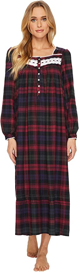 Eileen West - Plaid Flannel Ballet Long Sleeve Nightgown