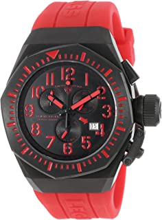 Swiss Legend Men's 10540-BB-01-RDAS Trimix Diver Chronograph Black Dial Red Silicone Watch