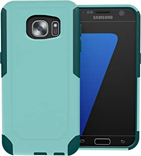 Galaxy S7 Case, ToughBox [Commute Series] [ Shockproof ] [ Slim ] [ Rugged ] [ Turquoise   Teal ] for Samsung Galaxy S7 Case [Fits OtterBox Defender & Commuter Series Clip]