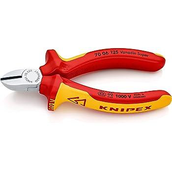 KNIPEX 70 06 125 Seitenschneider verchromt isoliert mit Mehrkomponenten-Hüllen, VDE-geprüft 125 mm