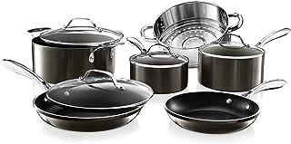 GOTHAM STEEL Platinum Cast 10 Piece Pots and Pans Kitchen Cookware Set with Ultra Nonstick Diamond Surface, Oven & Dishwas...