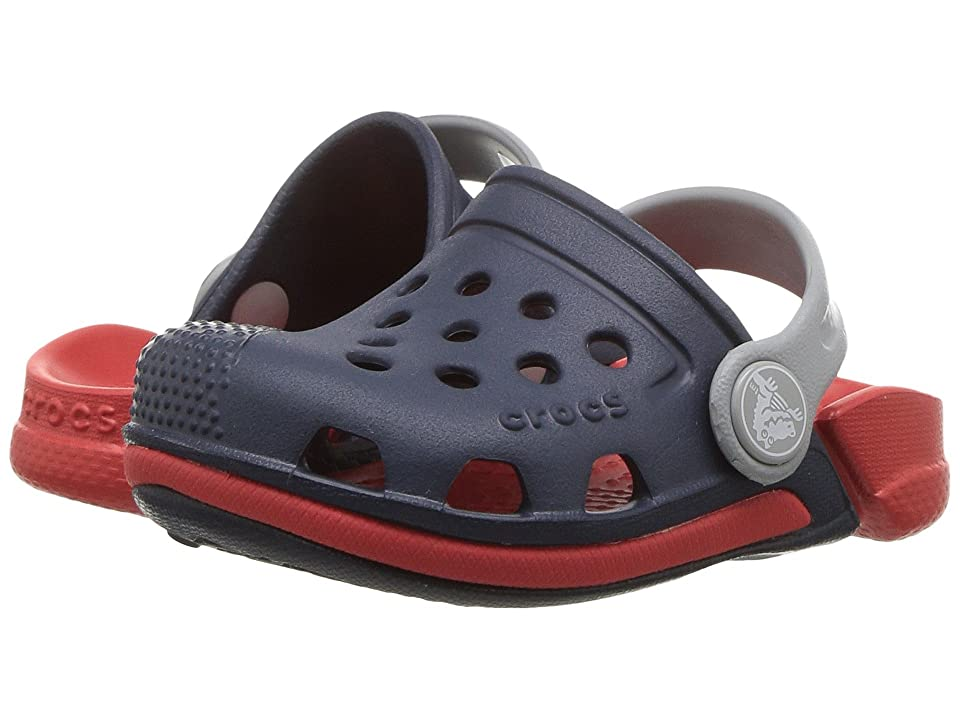 Crocs Kids Electro III Clog (Toddler/Little Kid) (Navy/Flame) Kids Shoes