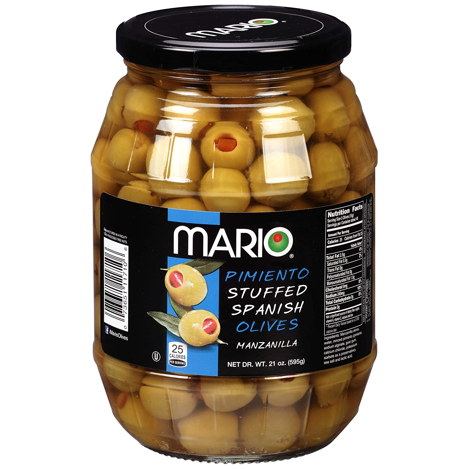 Mario We OFFer at cheap prices Pimiento Stuffed Spanish Olives Manzanilla Pack 1 - of Super intense SALE Gla