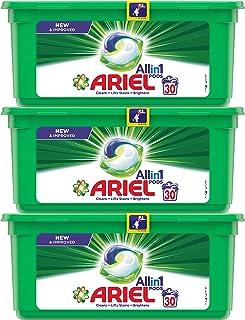Ariel 3in1 Pods, Washing Liquid Capsules, Original Scent, 3 x 30 Count