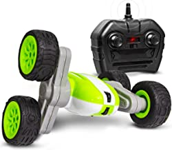Sharper Image Mini RC Flip 'N Roll Racer Toy Car for Kids, 360 Degree Rotation Action, Wireless Remote Control/Built in Radio Frequencies, All Terrain Rugged Rubber Tires, Off Road Stunt Performance