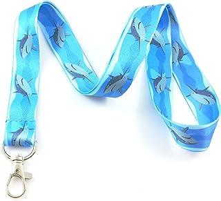 Ocean Life Lanyard Porte-clés badge d'identification support gris souris