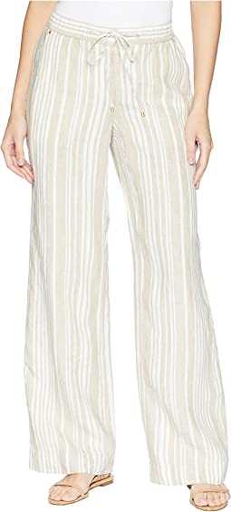 Stripe Linen Easy Pants