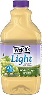 Welch's Light Juice, No Sugar Added, White Grape, 64 Ounce (Pack of 6)