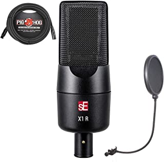 sE Electronics X1R Passive Ribbon Microphone Bundle with 20ft XLR Cable and CAD Audio Pop Screen Filter