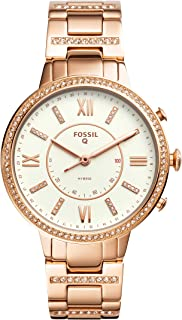 Fossil Women's FTW5010 Fossil Q Virginia Rose Gold-Tone Hybrid Smartwatch, Gold, Small