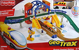Fisher-Price Geo Trax Grand Central Station Remote Control Train Set w Sounds & Fastest Team Aero & Eric (2008
