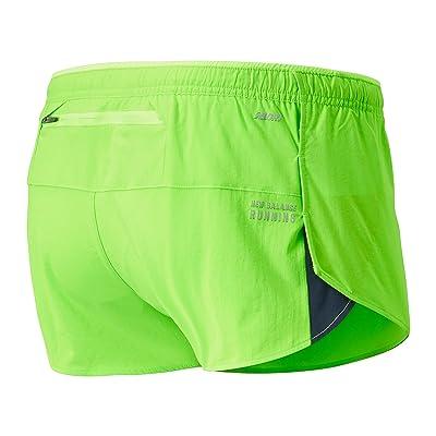 New Balance Impact Run 3-Inch Split Shorts (Energy Lime) Men