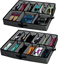 """Woffit """"The Ultimate Under Bed Storage Organizer"""" with Adjustable Dividers That fit Every Size Shoe, Boots, Heels & Access..."""