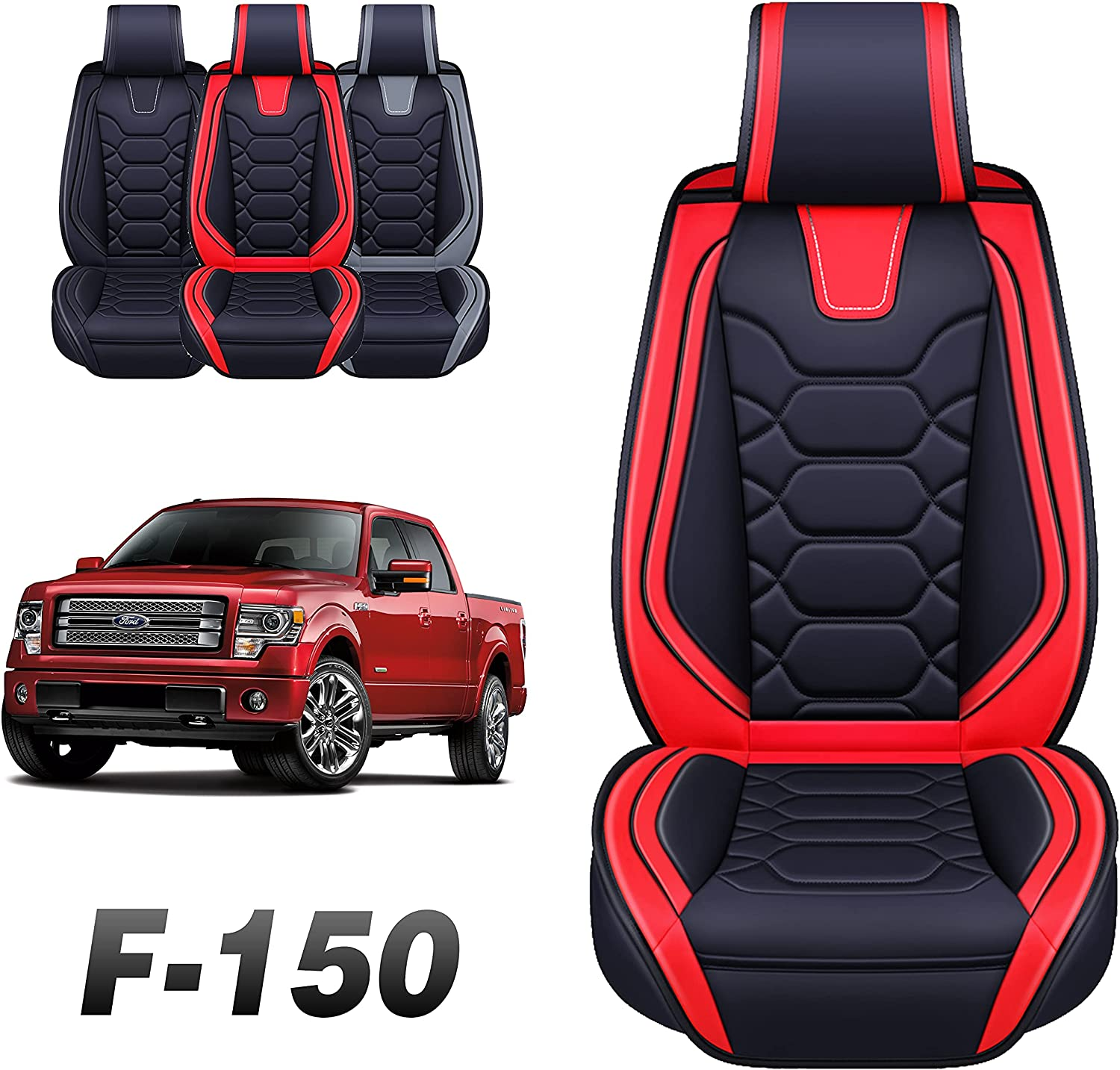Oasis Auto Fashion Tailor Fit Seat Compatible Free shipping anywhere in the nation Ford 2009-2022 with Covers