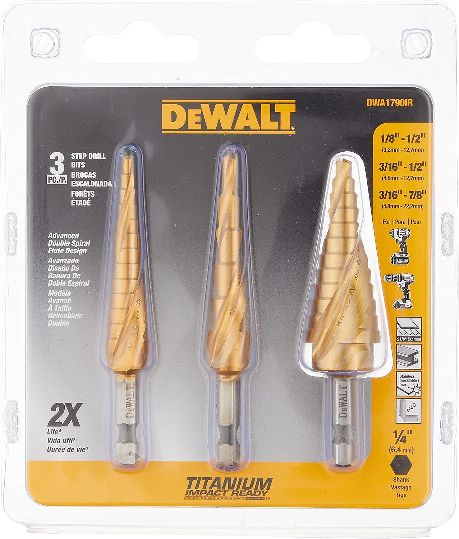 DEWALT Step Drill Bit 3-Piece Set Ranking TOP10 High material DWA1790IR