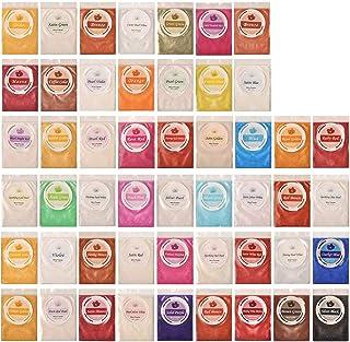 50 Colors Mica Powder, Coloring Soap Dye, Epoxy Resin Dye, Pigment for Paint Art, Bath Bomb, Soap Making Supplies