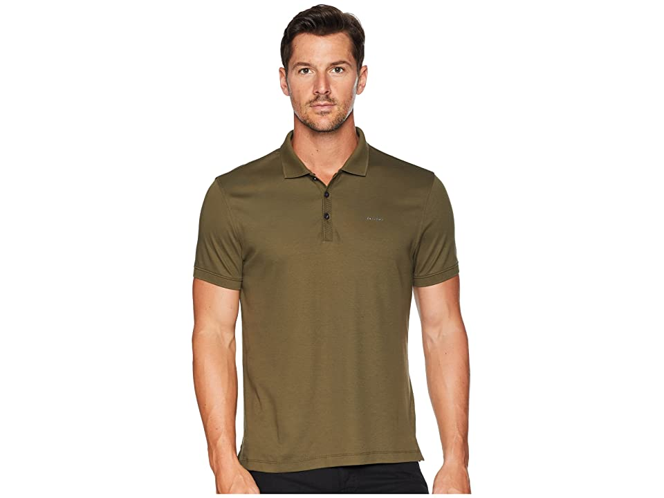 Calvin Klein Liquid Touch Polo Shirt (Oak Leaf) Men