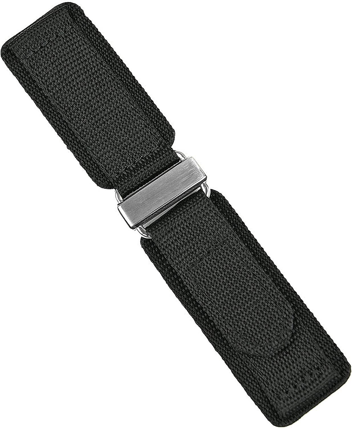 B R Bands 24mm Black Nylon Hook Quality inspection Watch Credence Band - Strap N' Sta Loop