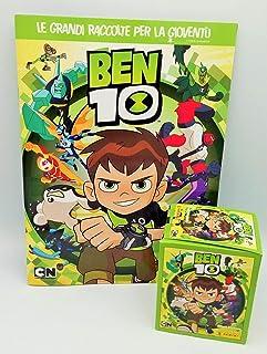 GS1 Ben 10 Album Vuoto + Box 50 bustine di Figurine Panini