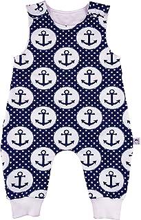Eve Couture Babykleidung Baby Strampler Junge Anker Rockabilly Punkte blau
