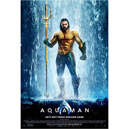 Art Print Poster Canvas Aquaman Movie Poster 11